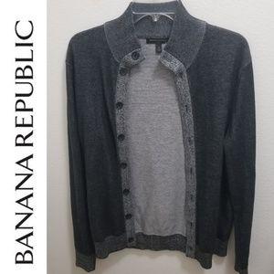 BANANA REPUBLIC Gray Cardigan
